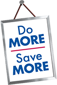 Do more, save more