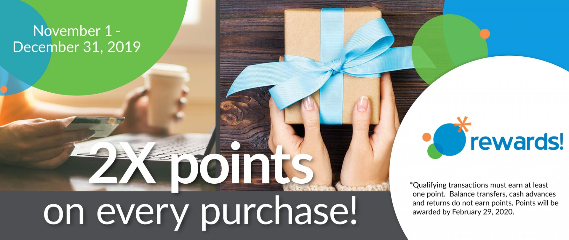 Double Points for the holidays!