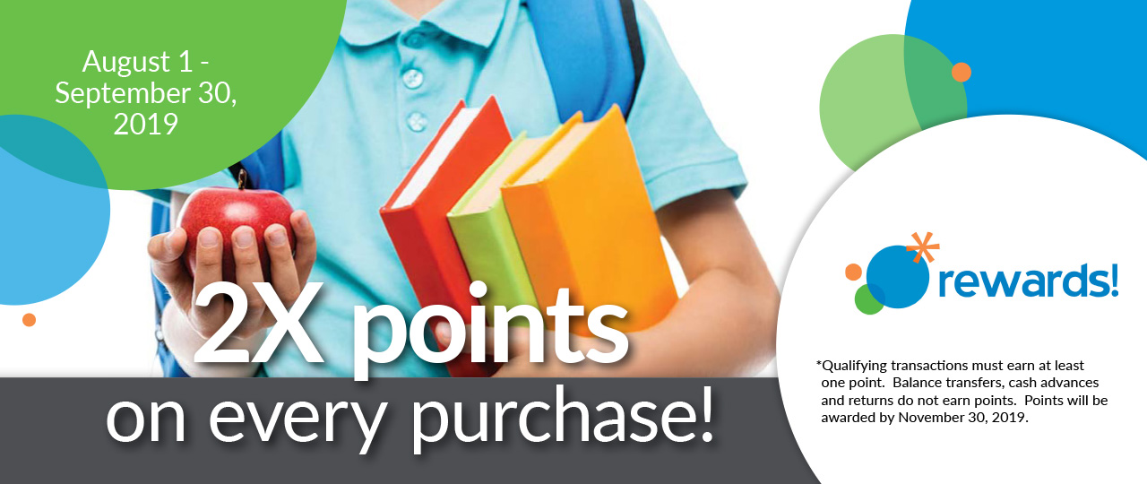 Back to School 2x points!